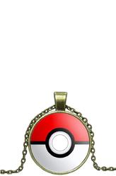 Браслеты и ожерелья - Цепочка с кулоном Покебол