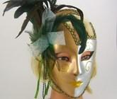 Карнавальные маски - Венецианская маска с перьями