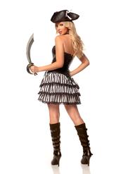 Перчатки и боа - Воинствующая пиратка делюкс