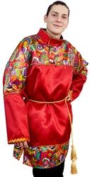 Русские народные - Взрослая красная рубаха с узорами