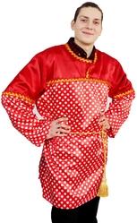Русские народные - Взрослая красная рубаха в горох