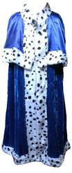 Цари - Взрослая синяя мантия короля
