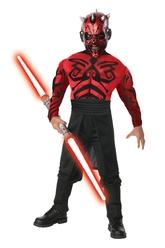 Звездные воины - Взрослый костюм Дарта Мола с мышцами