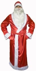 Дед Мороз - Взрослый костюм Деда Мороза атласный
