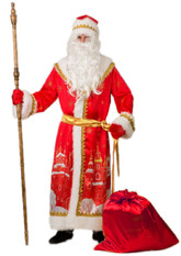 Дед Мороз - Взрослый костюм Деда Мороза с принтом города