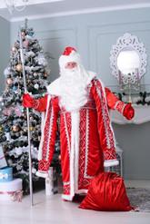 Дед Мороз - Взрослый костюм Деда Мороза с узорами