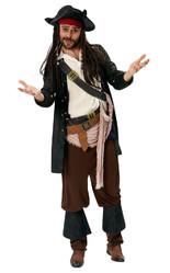 Пираты и капитаны - Взрослый костюм Капитана Джека Воробья