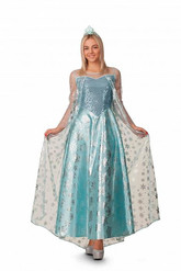 Холодное сердце - Взрослый костюм  королевы Эльзы