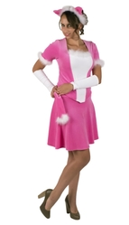 Кошки - Взрослый костюм Розовой кошки