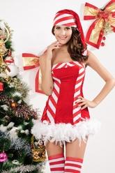 Санта - Взрослый костюм Санты конфетки