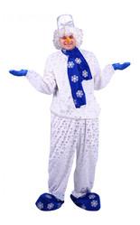 Снеговики - Взрослый костюм Снеговика с шарфом