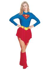 Супермен - Взрослый костюм супер девушки люкс