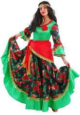 Цыганские костюмы - Взрослый костюм Цыганки Розы