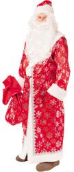 Праздничные костюмы - Взрослый красный костюм Деда Мороза