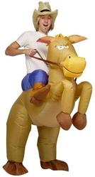 Ковбои и индейцы - Взрослый надувной костюм Ковбой на лошади