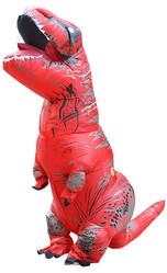 Надувные - Взрослый надувной костюм красного Ти-Рекса