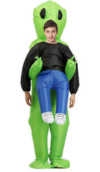 Инопланетяне - Взрослый надувной костюм Похищение пришельцем