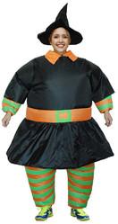 Надувные - Взрослый надувной костюм Ведьмы