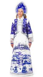 Санты и Снегурочки - Взрослый синий костюм Лазурной Снегурочки