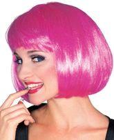 Аксессуары - Ярко-розовый парик модели