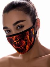 Скелеты и мертвецы - Защитная маска огненного скелета