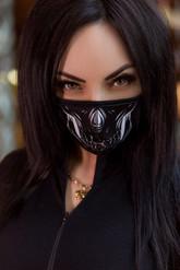 Скелеты и мертвецы - Защитная маска с принтом скелета