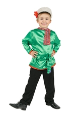Русские народные - Зеленая детская косоворотка