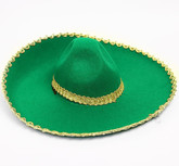 Мексиканские костюмы - Зеленое сомбреро с вышивкой