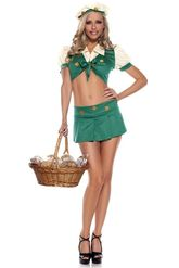 Женские костюмы - Зеленый костюм Девочка скаут