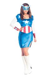 Капитан Америка - Женский костюм Капитана Америка