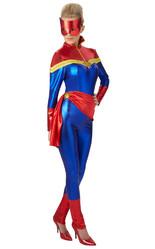 Мстители - Женский костюм Капитана Марвел