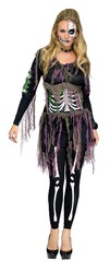 Скелеты - Женский костюм скелетона 3D