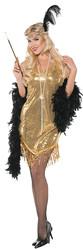 Женские костюмы - Женский золотой костюм в стиле Гэтсби