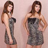 Клубные платья - Змеиное мини-платье
