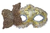 Венецианский карнавал - Золотая маска с бабочкой