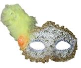 Венецианский карнавал - Золотистая маска с пером