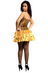 Ретро-костюмы 80-х годов - Золотистое платье
