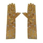 Перчатки и боа - Золотистые длинные