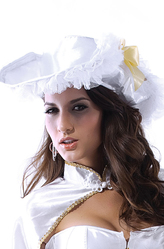 Пиратская тема - Белая пиратская шляпа с накидкой