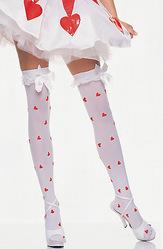 Женские костюмы - Белые чулки с сердечками