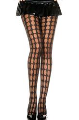 Женские костюмы - Черные колготки в горошек