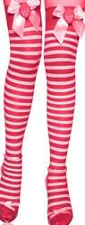 Красные шапочки - Чулки в красно-белую полоску с бантиками