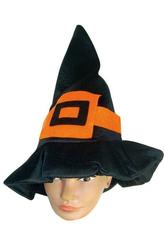 Женские костюмы - Колпак ведьмы с оранжевой пряжкой