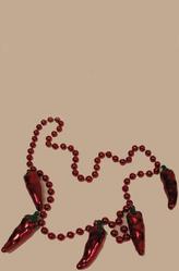 Браслеты и ожерелья - Красное ожерелье с перцами