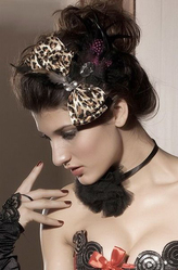 Маленькие шляпки - Леопардовый бантик