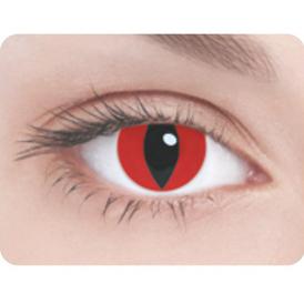 Линзы Кошачий глаз красные