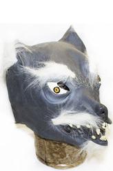 Латексные маски - Маска серого волка