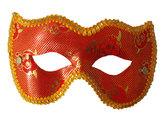 Карнавальные маски - Маска Шик красная с золотом