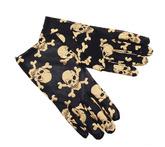 Перчатки и боа - Мини перчатки с черепом