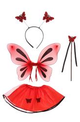 Костюмы для девочек - Красная бабочка
